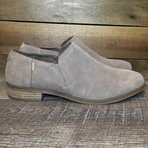 NEW TOMS Taupe Grey Suede Shaye Low Booties